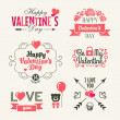 Valentine's day. Set of typography elements with hearts. — Stock Vector #38913443