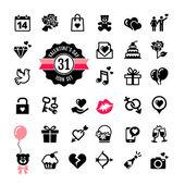 Web icon set - Valentine's day — Stock Vector
