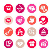 Web icon set - Valentine's day. Flat style — Vettoriale Stock