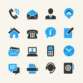 Web communication icon set: contact us — Stock Vector