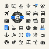 Web icon set -  travelling, vocation and inbound tourism — Stok Vektör