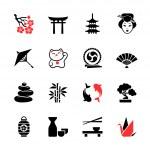 Japanese theme icon set — Stock Vector #43610343
