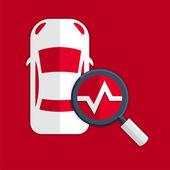 Car diagnostics symbol — Vettoriale Stock