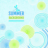 Summer background - Abstract lines with circles — Stock Vector