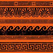 Starożytne greckie granicy ozdoby, meandry — Wektor stockowy