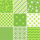 St. Patrick's Day - seamless background collection — Stockvector