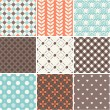 Seamless patterns set - coffee theme for restaurant menu — ストックベクタ