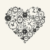 Vector hours heart — Vector de stock
