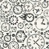 Seamless background with clocks — Vector de stock
