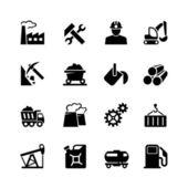 Industrial web icon set — Stock Vector