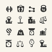 Web icon set - scales, weighing, weight, balance — Stock Vector