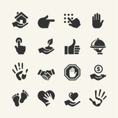 Web icon set - Hand — Stock Vector