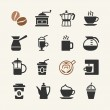 Coffee - web icons set — Stock Vector