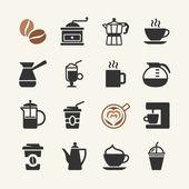コーヒー - web アイコンを設定 — ストックベクタ