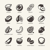 16 Nuts - web icons collection — Stock Vector