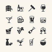 Alcohol drink - icon set — Stock Vector