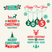 Merry Christmas and happy new year. 2015 — Stock Vector