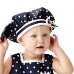 Headshot of smilng caucasian toddler girl — Stock Photo #21356879