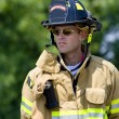 Brave firefighter — Stock Photo #21357415