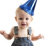 Caucasian birthday boy baby — Stock Photo