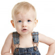 Caucasian baby boy with blonde hair and blue eyes — Stock Photo
