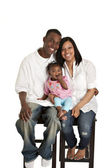 Portrait of young african american family — 图库照片