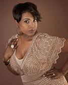African american woman in beautiful dress — Stock Photo