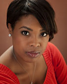 Head shot of young black woman — Stock Photo