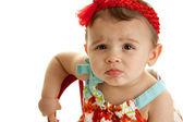 噘嘴女婴 — 图库照片