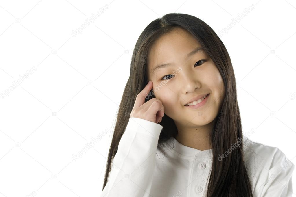 Http Depositphotos Com 21357865 Stock Photo Asian American Girl Thinking Html
