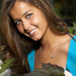 Smiling teenage girl with beautiful suntan — Stockfoto #21360347