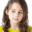 Adolescent girl with look of mistrust or disappointment — Stock Photo #21361337