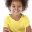 African american little girl with a big smile — Stock Photo #21362841