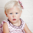 Portrait of caucasian toddler girl — Stock Photo #21363549