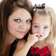 Caucasian mother and smiling daughter — Lizenzfreies Foto