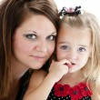 Caucasian mother and smiling daughter — ストック写真