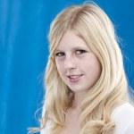 Smiling blonde teenage girl — Stock Photo #21364553