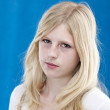 Cute blonde teenage girl — Stock Photo #21364557