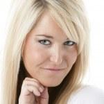 Smiling pretty blonde woman — Stock Photo