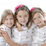 Headshot of three smiling little girls — Stock Photo #21366947