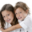 Image of smiling caucasian little girls — Stock Photo