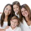 Hispanic mother and daughters - Stock Photo