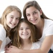 Image of three real caucasian sisters  — Stock Photo