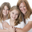 Portrait of mother with her two daughters — Stock Photo