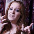 Caucasian female vampire - Stock Photo
