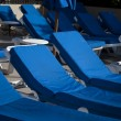 Blue lounge chairs - Stock Photo