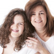 Image of smiling caucasian mother with her teenage daughter — Stock Photo