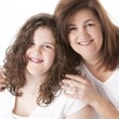 Portrait of smiling mother with her teenage daughter — Stock Photo