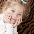 Image of confident smiling caucasian little girl — Stock Photo
