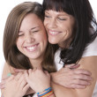 Image of caucasian mother and daughter - Stockfoto